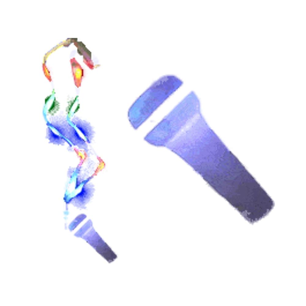 LED Microphone Charm Necklace with Lightup Lanyard All Products