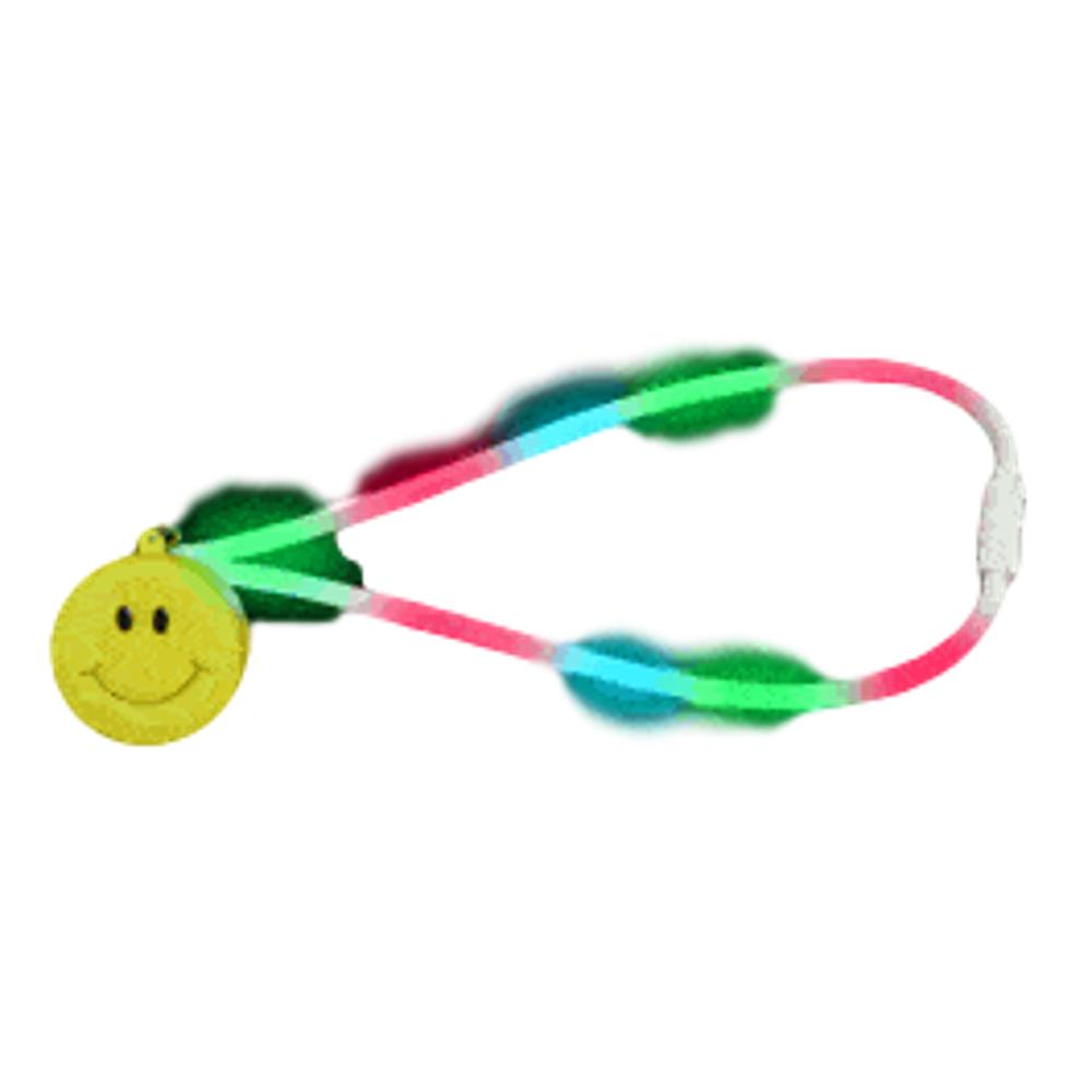 Flashing Smiley Face Charm Necklace with Lightup Lanyard All Products