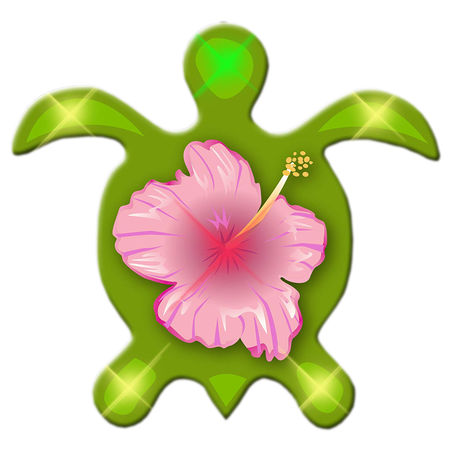 Sea Turtle Flashing Body Light Lapel Pins All Body Lights and Blinkees