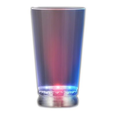 Light Up Pint Glass Multicolor Rainbow Multicolor