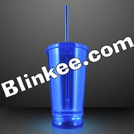 Large Double Wall LED To Go Tumbler Blue All Products