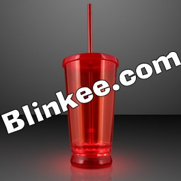 Large Double Wall LED To Go Tumbler Red All Products