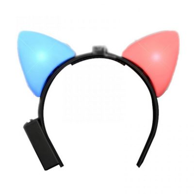 LED Animal Ears Red and Blue Flashing Red