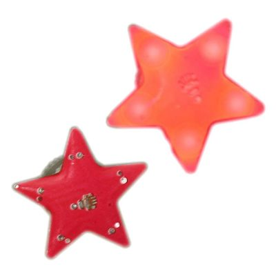 Red Star Flashing Body Light Lapel Pins Pack of 12 All Body Lights and Blinkees