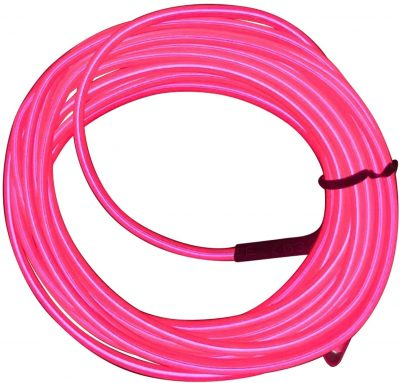Electro Luminescent Wire 12 Foot Pink All Products