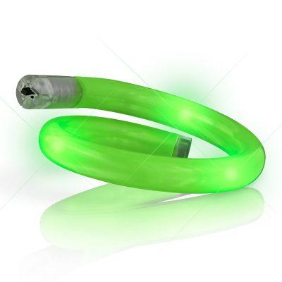 Light Up Tube Bracelet Green Green