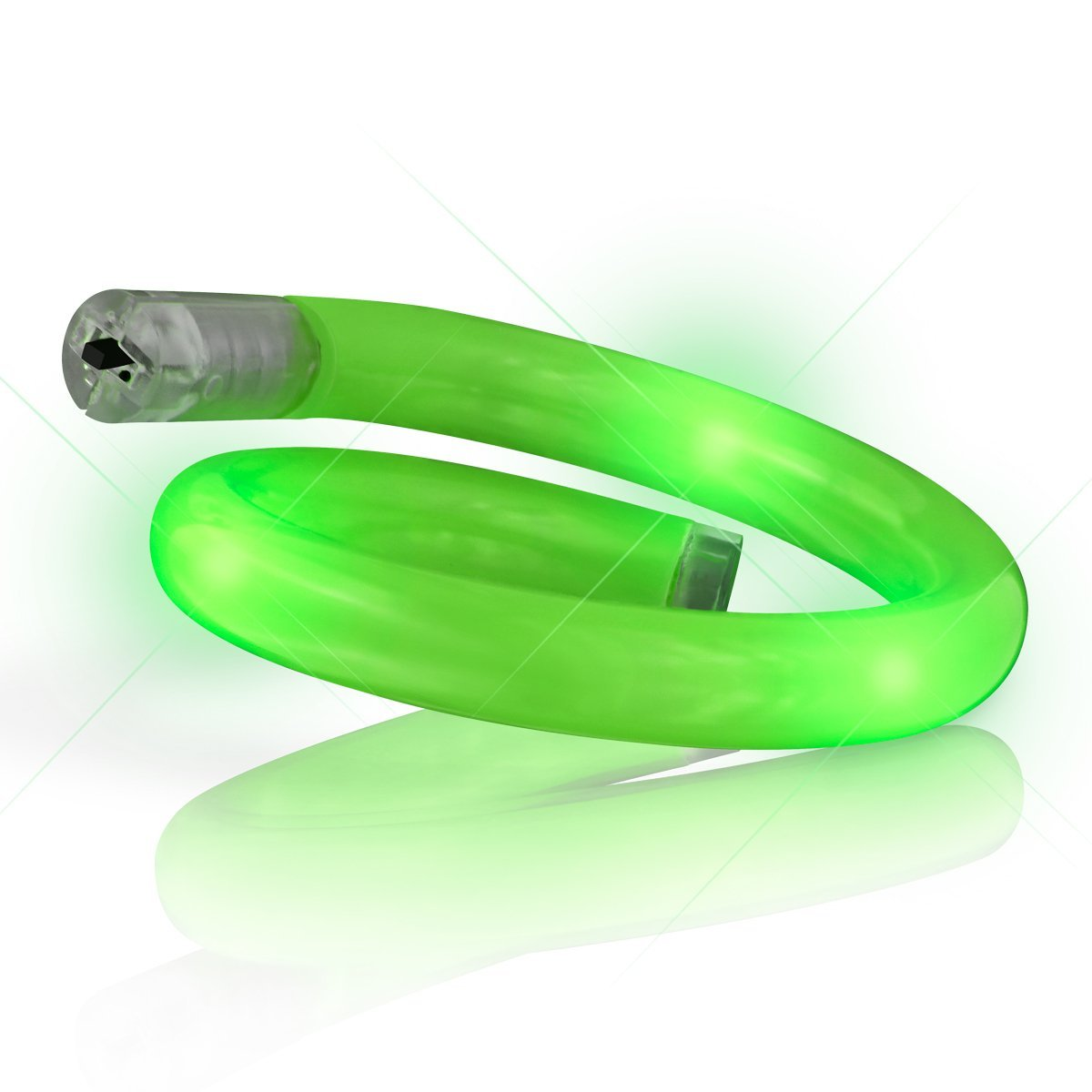 Light Up Tube Bracelet Green All Products