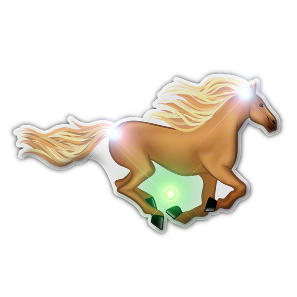 Horse Flashing Body Light Lapel Pins All Body Lights and Blinkees