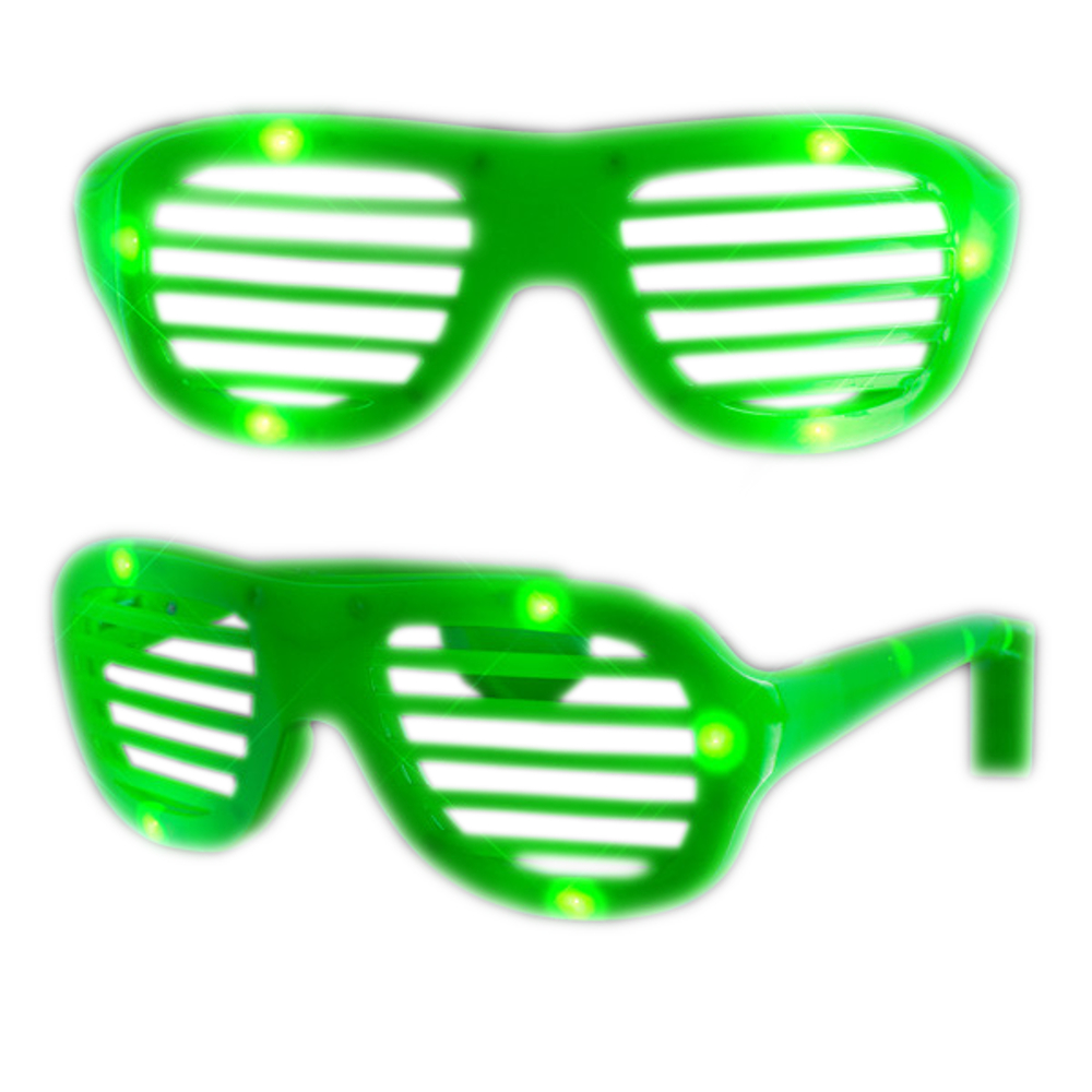 Rock Star Shutter Shades Sunglasses Green All Products