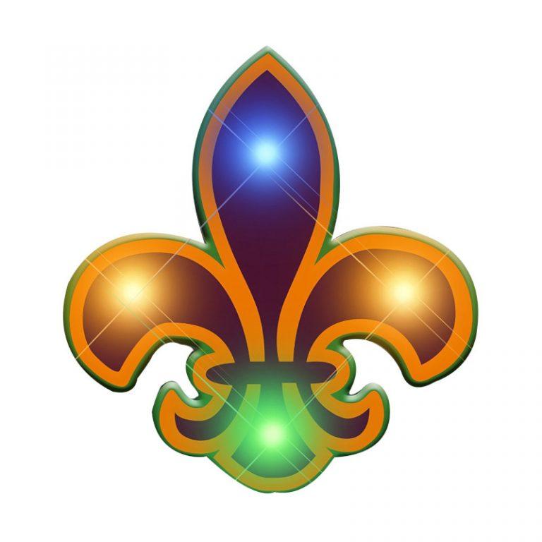 Fleur de Lis Flashing Body Light Lapel Pins All Products