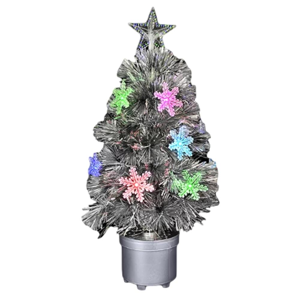 Silver Mini Christmas Tree with Color Changing Lights Light Up Christmas Decoration All Products