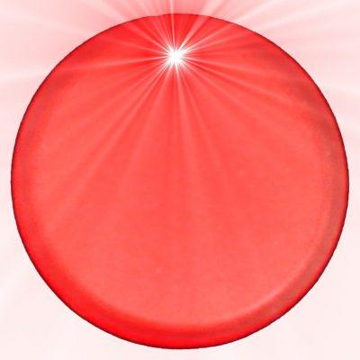 Light Up Round Badge Pin Red Flashing