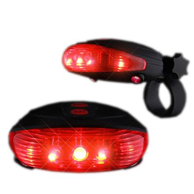 Red Bike Light with Ground Illuminating Lasers Red