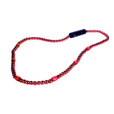 LED Necklace with Red Beads Red