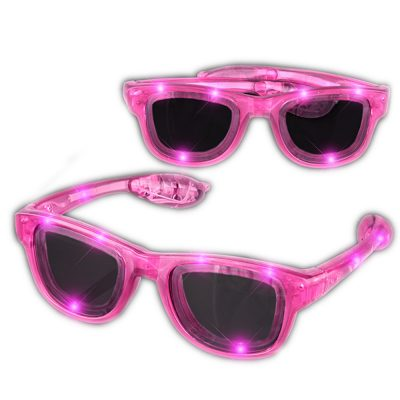 Pink LED Nerd Glasses Pink