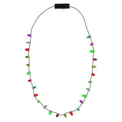 Wearable  Christmas Lights Necklace Lighted Christmas Necklaces