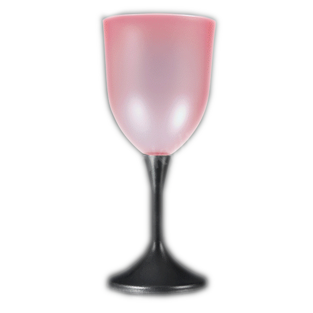 LED Frosted Wine Glass with Black Base All Products