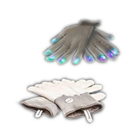 LED Gloves Multicolor LEDs Rainbow Multicolor