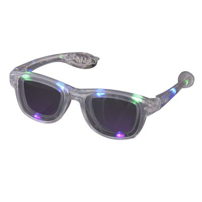Multicolor LED Nerd Glasses Rainbow Multicolor