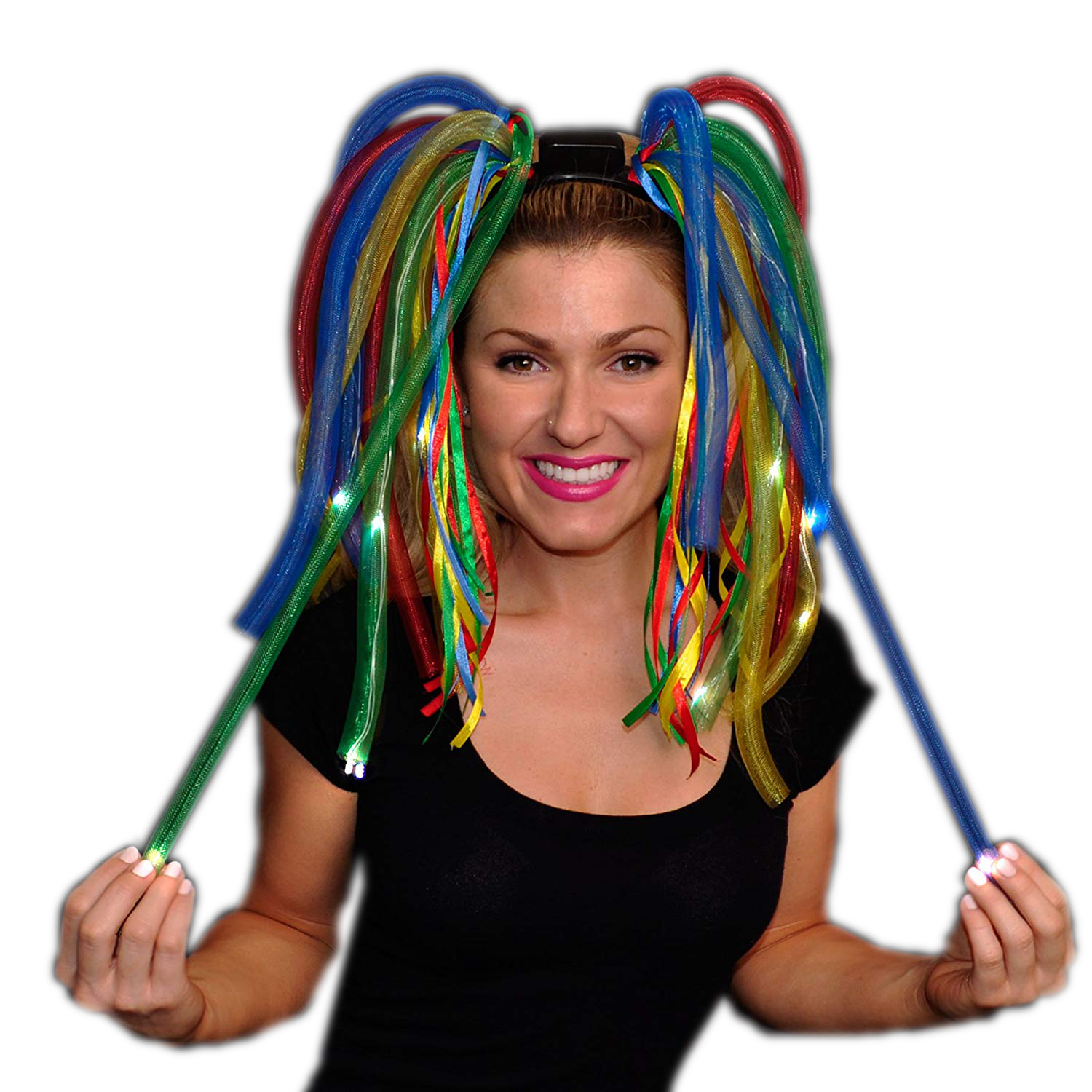 Multicolor LED Noodle Headband Flashing Dreads All Products