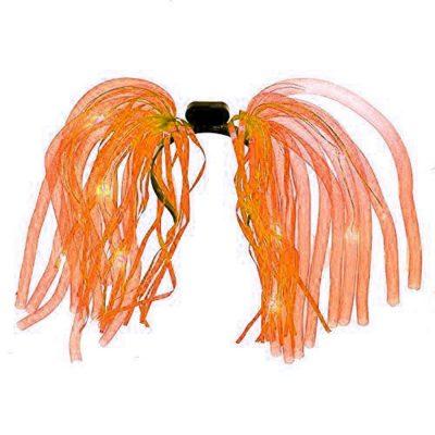 Orange LED Noodle Headband Flashing Dreads Orange
