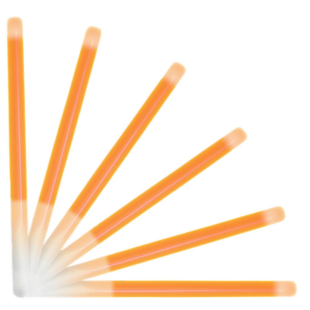 10 Inch Glow Stick Baton Orange Pack of 25 All Products