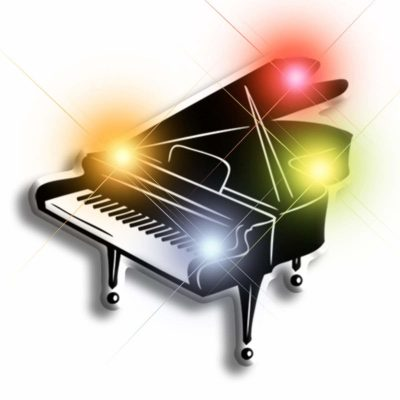 Piano Flashing Body Light Lapel Pins All Products