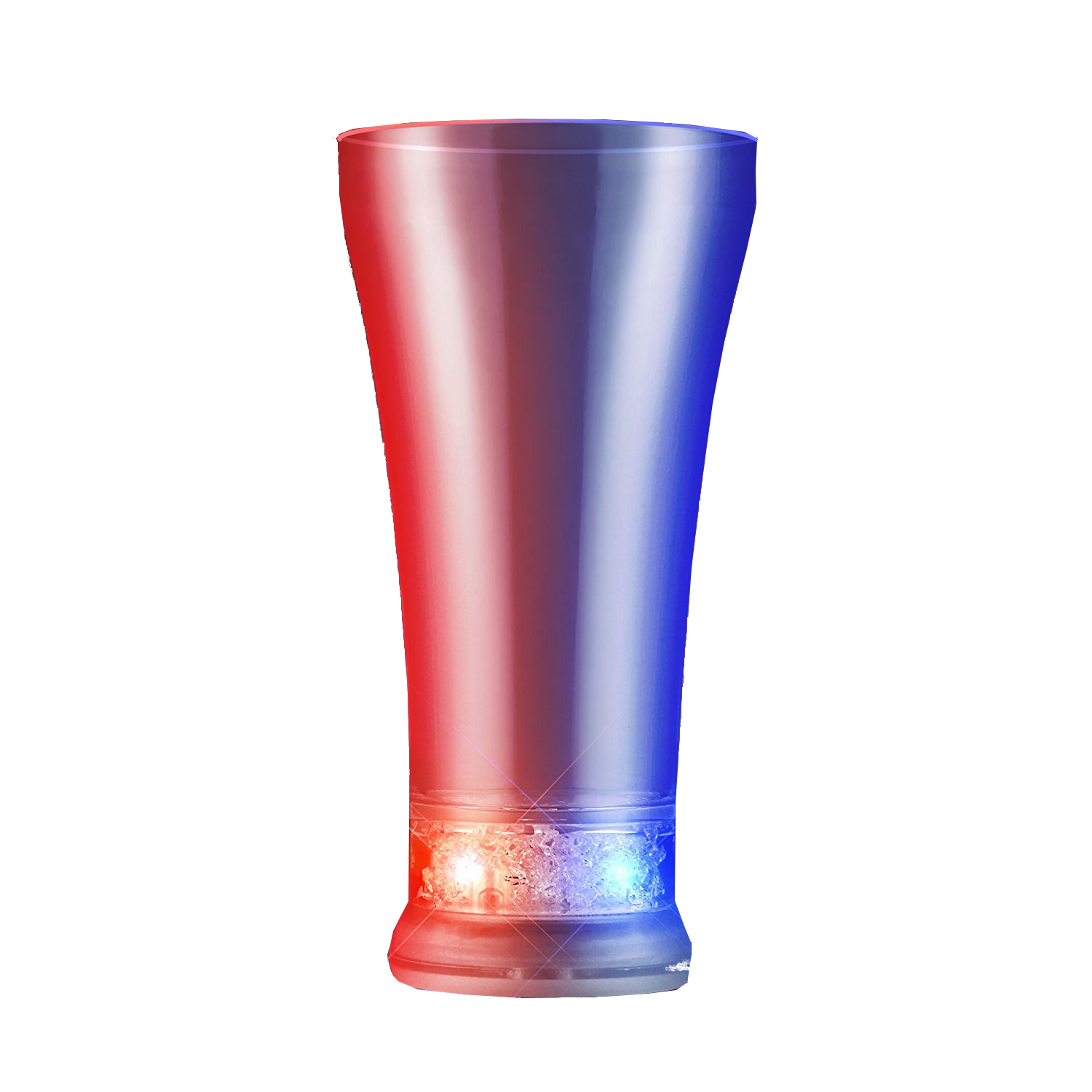 Pilsner Glass Red White Blue 4th of July