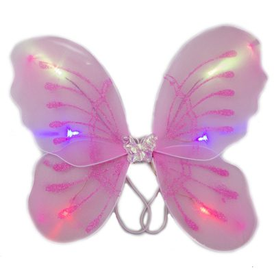 Light Up Pink Fairy Butterfly Wings LED Accessories