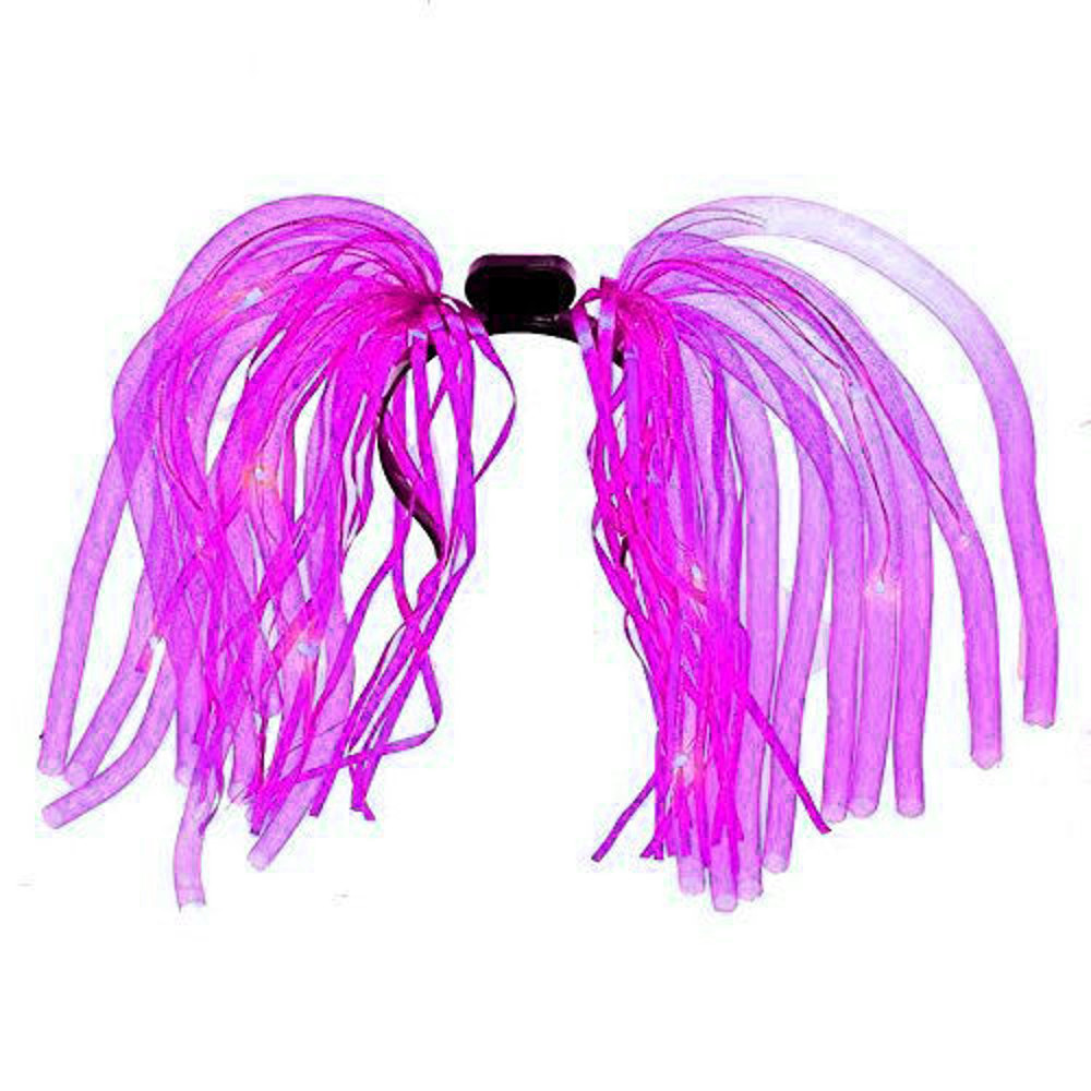 Pink LED Noodle Headband Flashing Dreads All Products