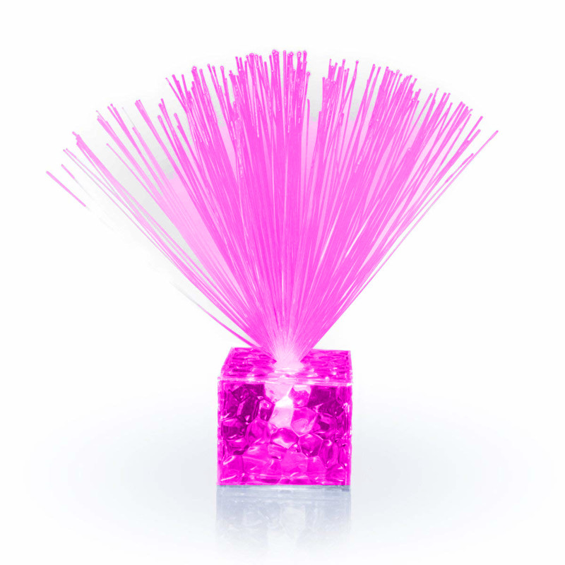 Fiber Optic Centerpiece with Small Clear Pink Base All Products