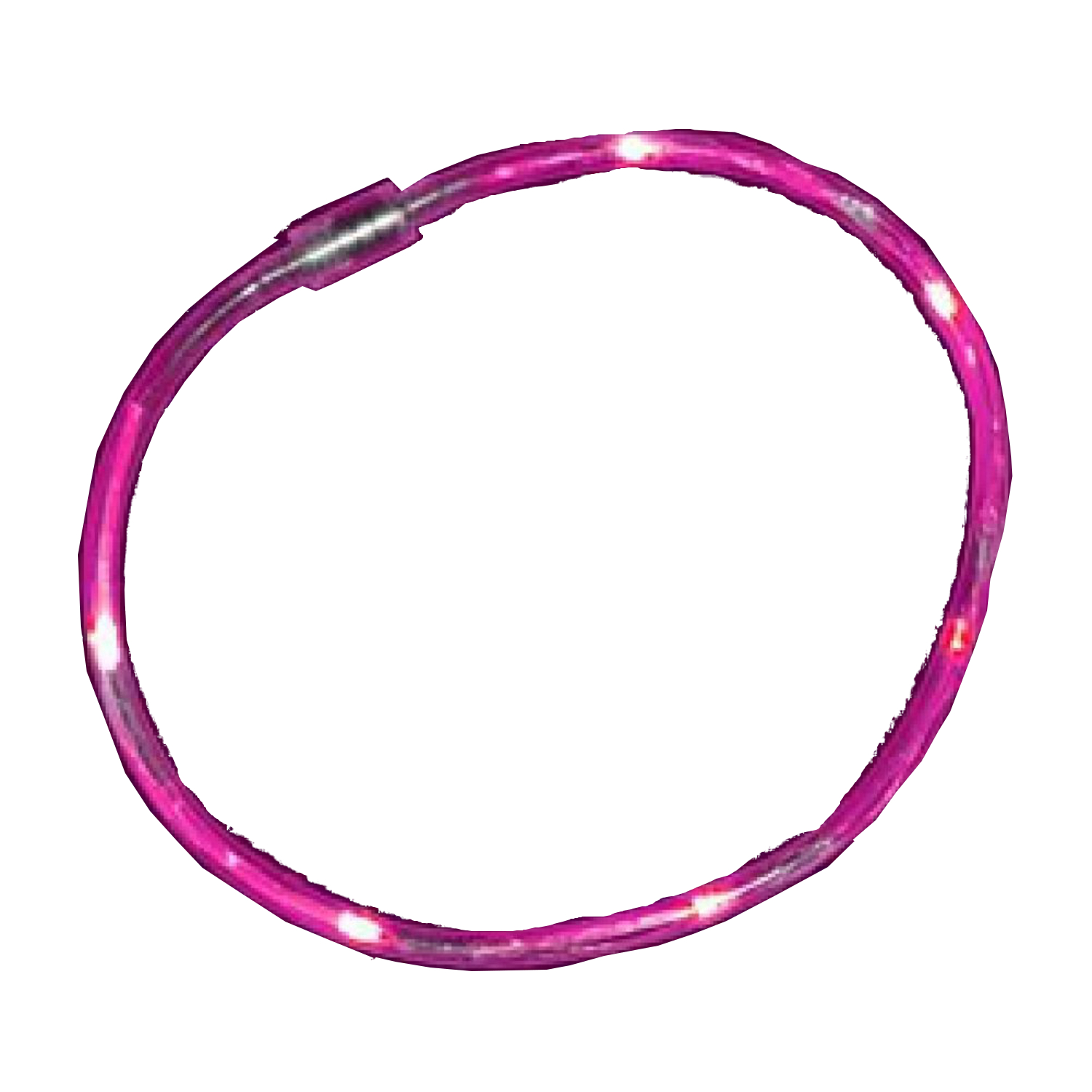 Pink Fiber Optic Tube Necklace All Products