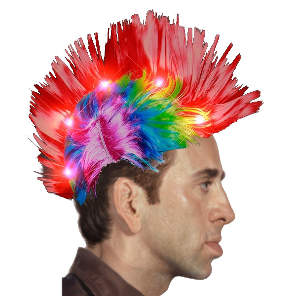 Punk Rock LED Mohawk Wig All Products