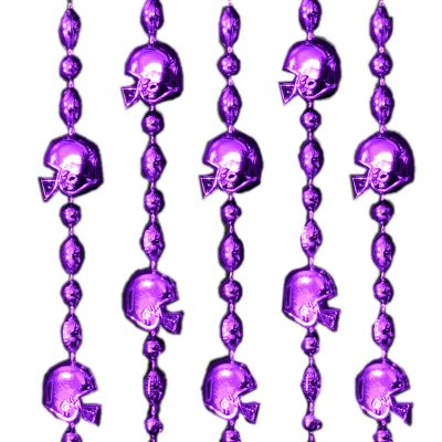 Football Helmet Bead Necklaces Purple Pack of 12 All Products
