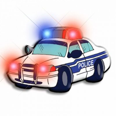 Police Car Flashing Body Light Lapel Pins All Body Lights and Blinkees