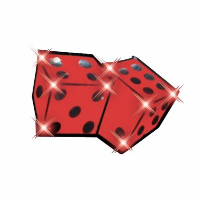 Dice Flashing Battery Operated Body Light Lapel Pins All Body Lights and Blinkees