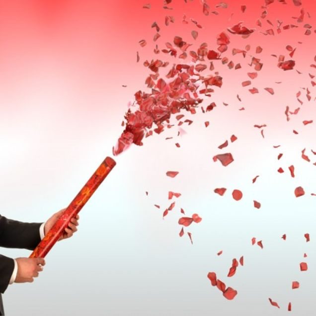 Red Rose Petals Confetti Cannon 16 Inch All Products
