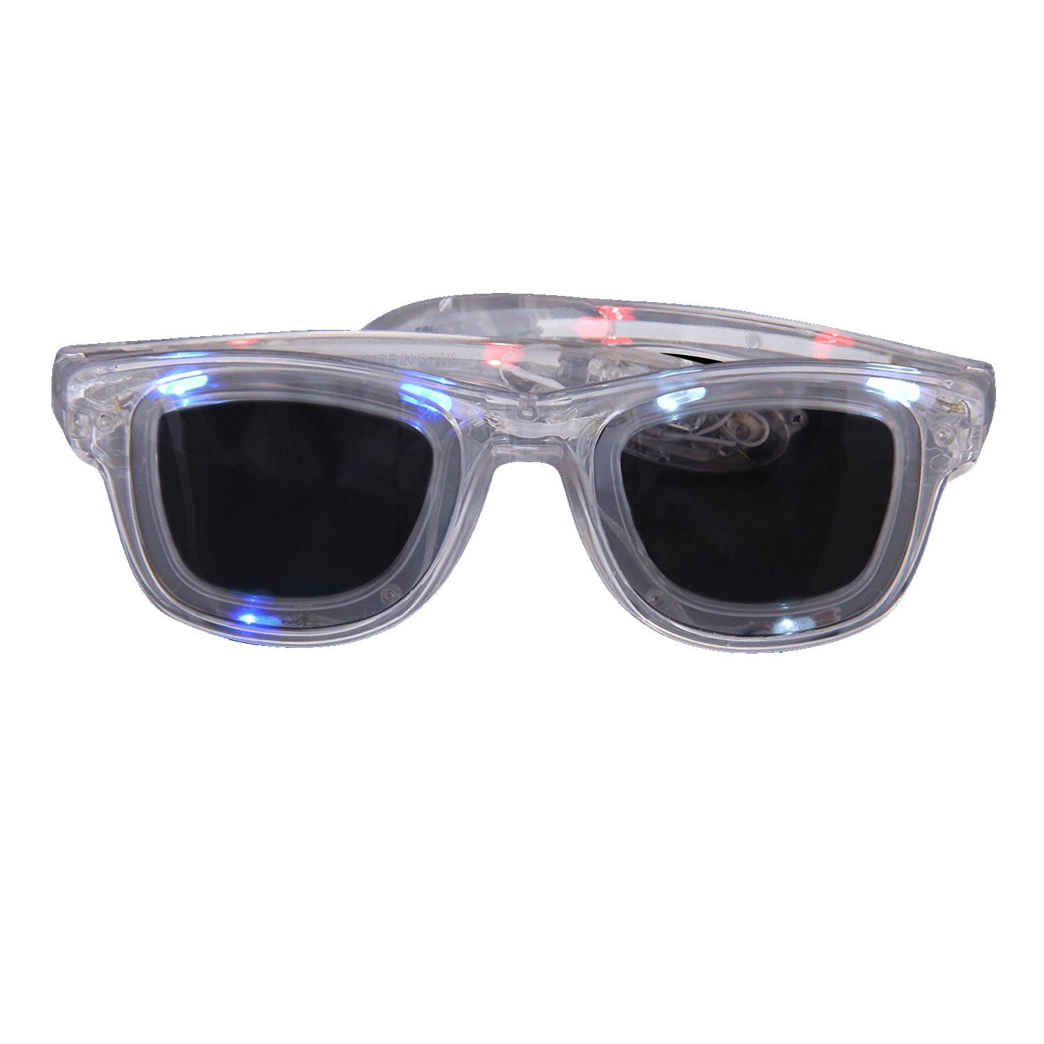 Red White and Blue LED Nerd Glasses 4th of July