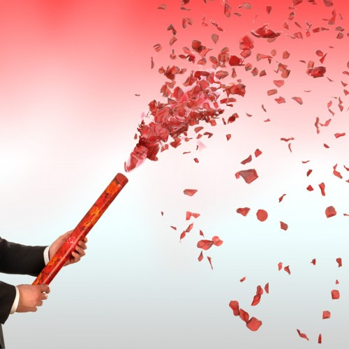 Red and White Rose Petals Confetti Cannon 24 Inch All Products