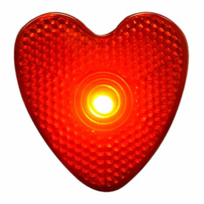 LED Blinking Red Heart Reflector Clip Running Body Light All Products