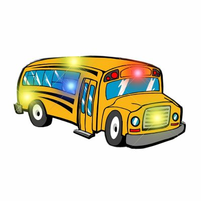 School Bus Flashing Body Light Lapel Pins All Body Lights and Blinkees