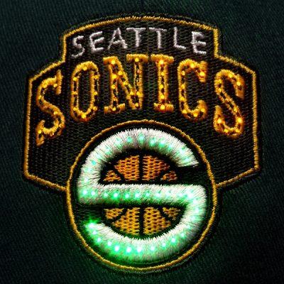 Seattle Sonics Flashing Fiber Optic Cap All Products