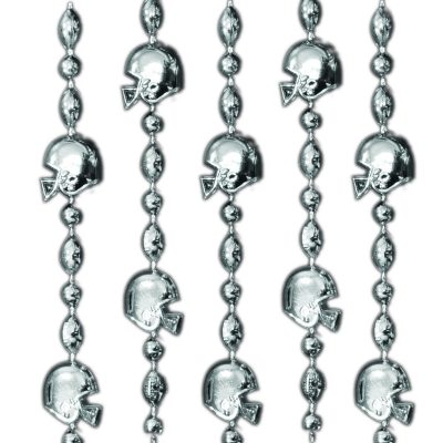 Football Helmet Bead Necklaces Silver Pack of 12 All Products