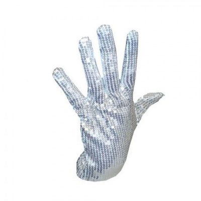 Non Light Up Michael Jackson Right Hand Sequin Glove Non-Light Up Fun