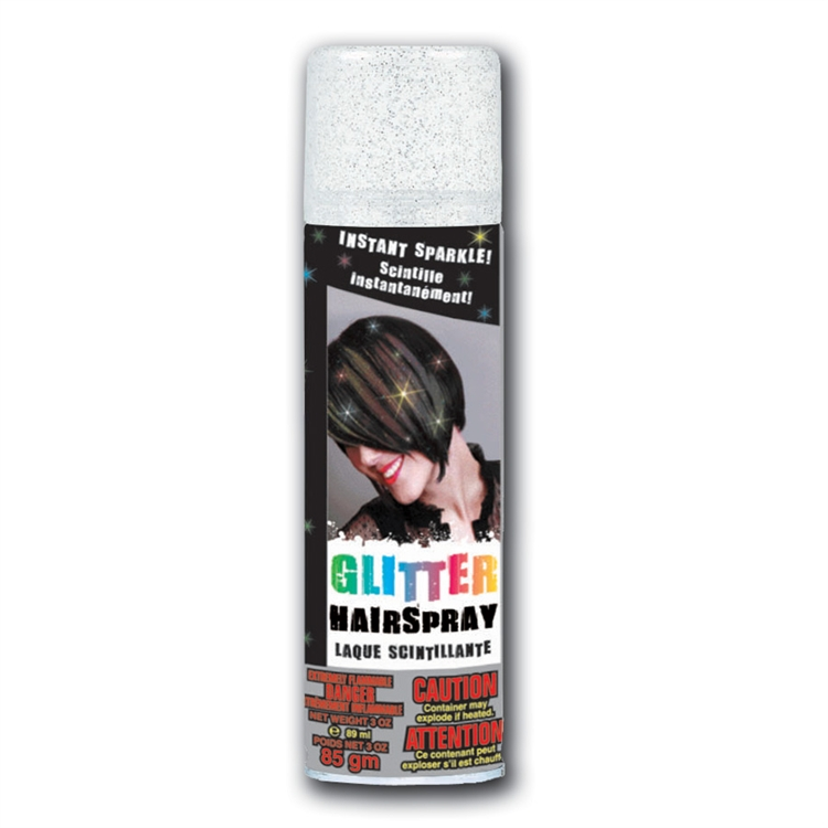 Temporary Colored Hair Spray Silver Glitter All Products