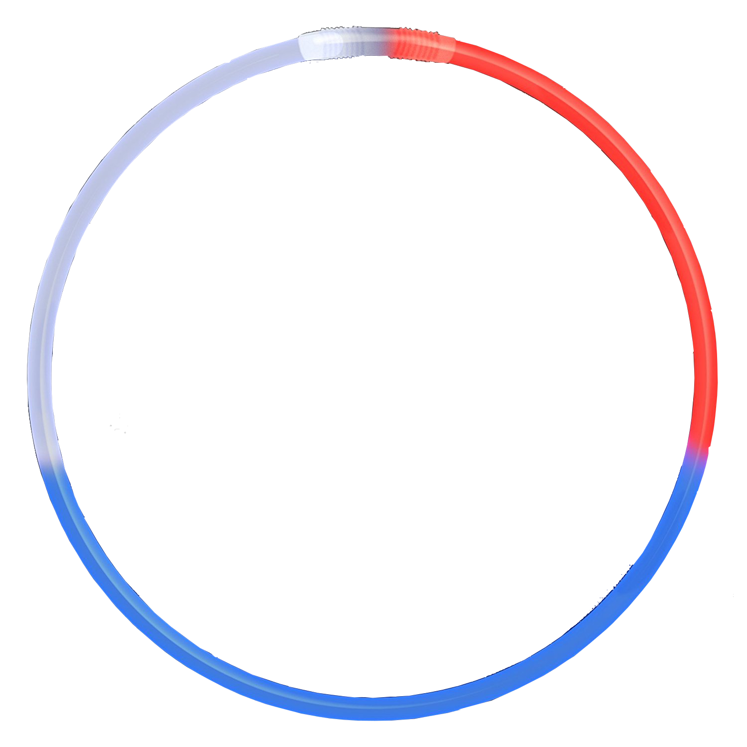 Glow Necklace Tri Color Red White and Blue Tube of Fifty 4th of July