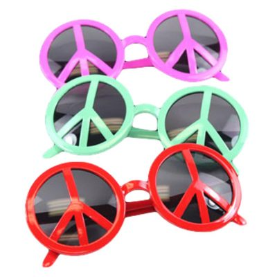 Peace Sign LED Sunglasses Assorted All Products