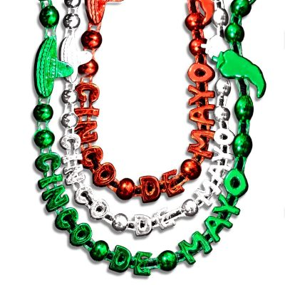 Cinco De Mayo Bead Necklaces Assorted Pack of 12 All Products