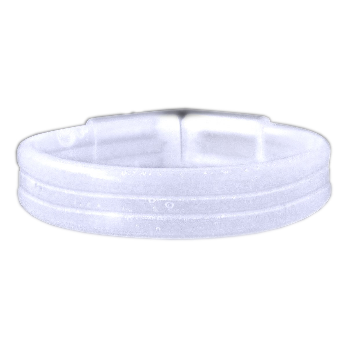 Wide Glow Stick 8 Inch Bracelet White Pack of 30 All Products