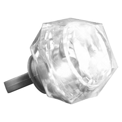 Huge Gem White Diamond Novelty Flashing Ring All Products